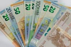 Billets de banque d'argent d'Evro image stock