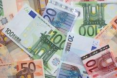 Billets de banque d'euro d'argent Image stock