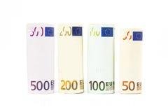 Billets de banque d'euro d'argent Photographie stock libre de droits