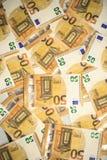 50 billets de banque d'euros Images libres de droits