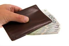 Billets de banque d'isolement sur le blanc Image stock