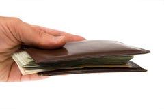 Billets de banque d'isolement sur le blanc Photographie stock libre de droits