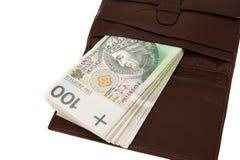 Billets de banque d'isolement sur le blanc Image libre de droits