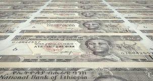 Billets de banque d'un birr éthiopien de roulement de l'Ethiopie, argent d'argent liquide, boucle illustration libre de droits