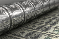 Billets de banque de dollar US D'impression Images stock