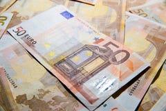 Billets de banque de 50 euros Images stock