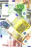 billets de banque de fond euro photo stock