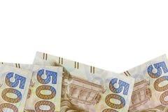 Billets de banque de Hong Kong, cinq cents hauts étroits Image libre de droits