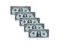 billets de banque de l'un dollar Photo stock