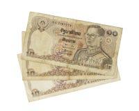 Billets de banque de la Thaïlande an 1978 de 10 bahts Images libres de droits