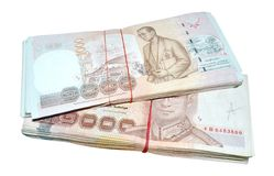 Billets de banque de la Thaïlande Photographie stock libre de droits