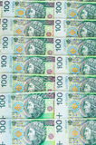 Billets de banque de 100 PLN (zloty polonais) Photo stock