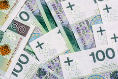 100 billets de banque de PLN (zloty polonais) Image libre de droits