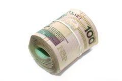Billets de banque de poli de Rollled Photos stock