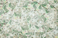 100 billets de banque de zloty - devise polonaise Photographie stock