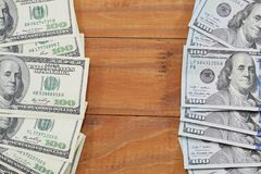 billets de banque des copies de $ 100, vieux et nouveau Photos stock