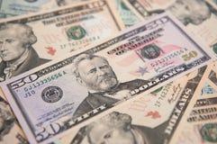 Billets de banque des Etats-Unis Photographie stock