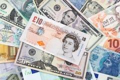 Billets de banque de différents pays photo libre de droits