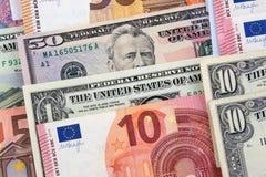 Billets de banque de différents pays photos libres de droits