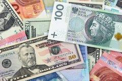 Billets de banque de différents pays image libre de droits