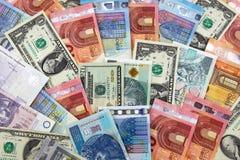 Billets de banque de différents pays images libres de droits