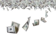 Billets de banque du dollar à la frontière supérieure Photographie stock