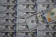 100 billets de banque du dollar des Etats-Unis Images libres de droits