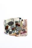 Billets de banque et pièce de monnaie Image libre de droits