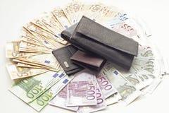 Billets de banque et portefeuille Images stock