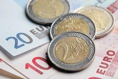 billets de banque euro Images stock