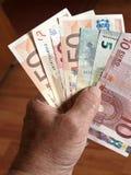 2 billets de banque euro Image stock