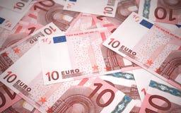 10 billets de banque euro Images libres de droits