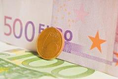 billets de banque euro Photos libres de droits