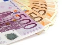 billets de banque euro Photos stock
