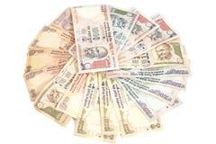 Billets de banque indiens de roupie de devise Photographie stock libre de droits