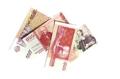 Billets de banque islandais Image libre de droits