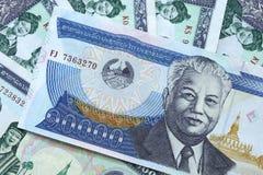 Billets de banque de kip d'argent du Laos Image libre de droits