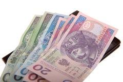 Billets de banque polonais Image stock