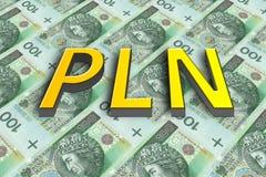 Billets de banque polonais d'argent Image stock