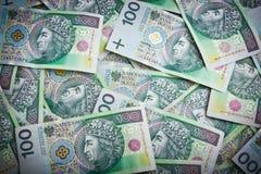 Billets de banque polonais d'argent Images libres de droits