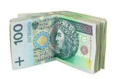 Billets de banque polonais de 100 PLN Photographie stock libre de droits