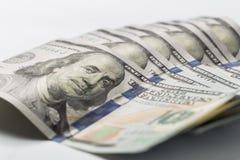 Billets de banque am?ricains en gros plan du dollar images stock