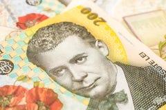 Billets de banque roumains de leu photos libres de droits