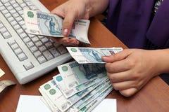 Billets de banque russes image libre de droits