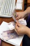 Billets de banque russes photo libre de droits