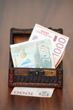 Billets de banque serbes Photo stock