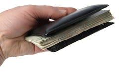 Billets de banque sur le blanc Image stock