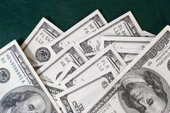 Billets de banque sur le vert Photographie stock libre de droits