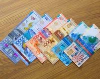 Billets de banque de tenge de Kazakhstani image stock