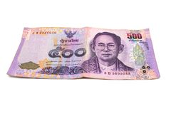 500 billets de banque thaïlandais de baht Billets de banque de devise utilisés dans les lois de image stock